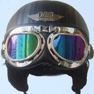 عینک موتور سواری کارتینگ مدل T06 روی کلاه کاسکت خلبانی