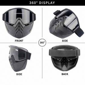 زوایای مختلف عینک موتور سواری هارمن مدل Goggles-011