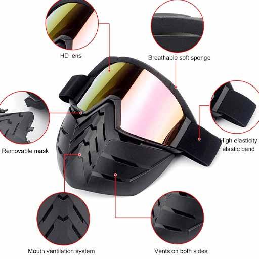 بررسی عینک موتور سواری هارمن مدل Goggles-011